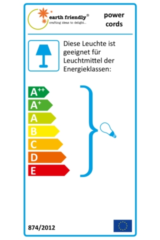 earth friendly - outdoor powercord (E27,  Schuko plug)