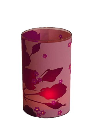 candle lights - pink rose - large