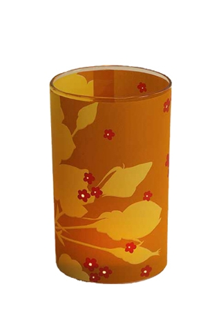 candle lights - orange rose - large