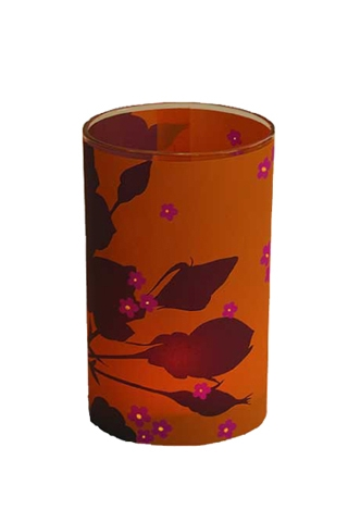 candle lights - mandarin rose - large