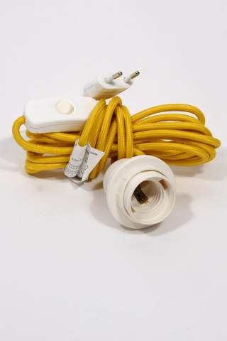 earth friendly - textile power cord set m4 - yellow