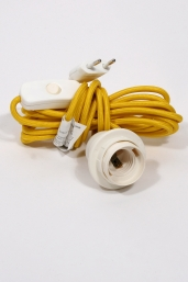 textile power cord set m4 - yellow