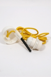 textile power cord set m2 - yellow