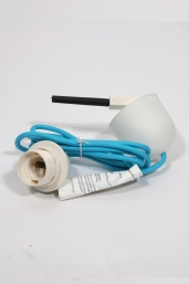 textile power cord set m2 - turquoise blue