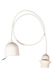 power cord set - white (E27)