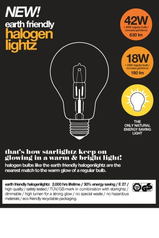 earth friendly - halogenlightz 42W (E27)