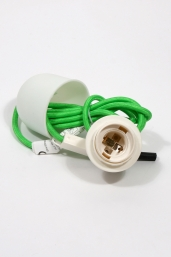 textile power cord set m2 - green
