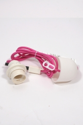 textile power cord set m2 - neon pink