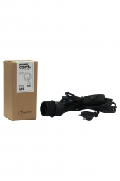 power cord black (E27,  European plug)